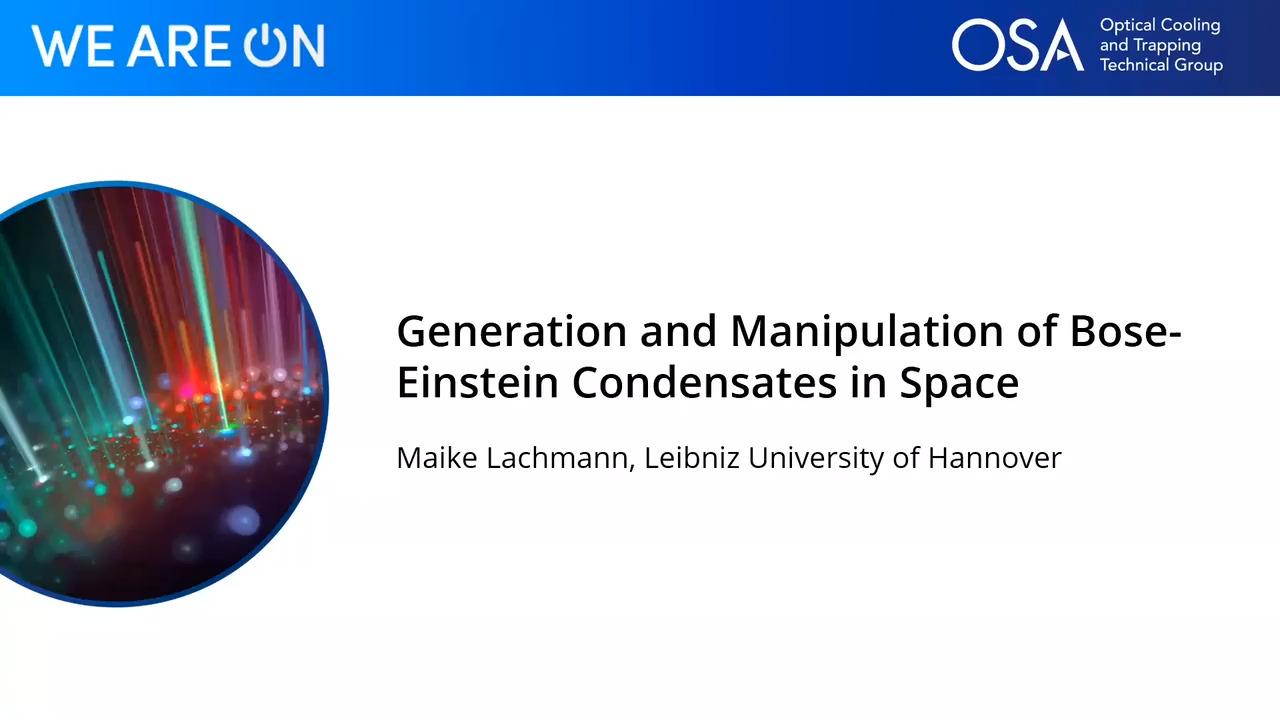 Generation and Manipulation of Bose-Einstein Condensates in Space