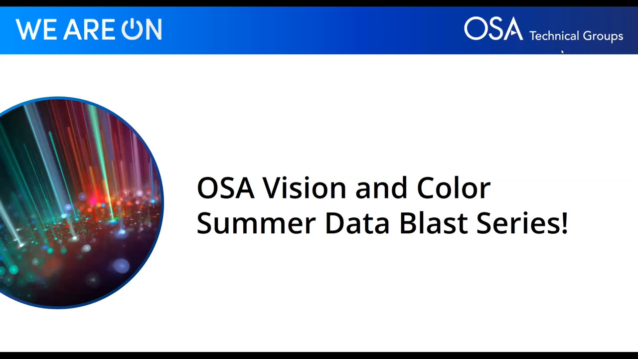 OSA Vision and Color Summer Data Blast Series: Advances in Applications of Adaptive Optics in the Eye