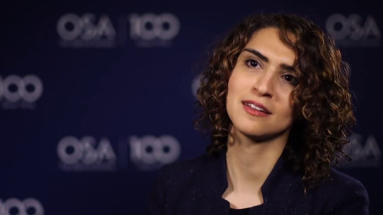 Faezeh Gholami talks about the importance of women in optics--OSA Stories