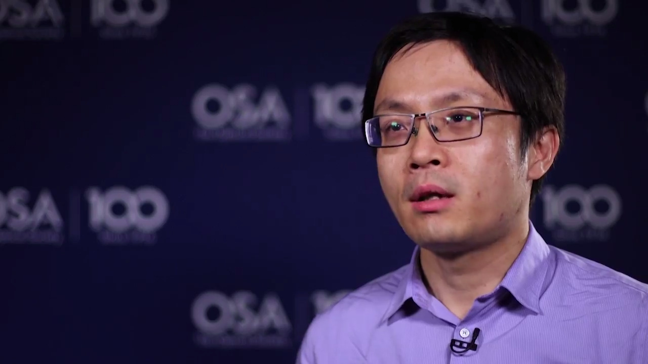 Wei Jiang discusses his research--OSA Stories
