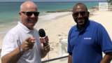 John Kirk with Peter Mayers Barbados Tourism Director