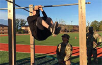 Leg Tucks: Army Demonstrates Fitness Exercise