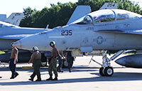 Super Hornets Clear Out Ahead of Hurricane Florence
