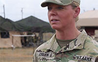 CPT Cotton, 1st Female infantry Commander