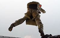 Pararescuemen Train HALO Jumping With U.S. Marines
