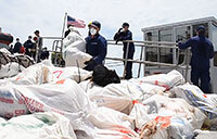 CG Cutter Offloads $2 Million Worth of Drugs