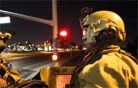 Light Armored Vehicles Night Operations Seal Beach