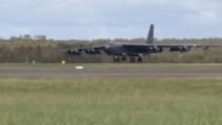 USAF B-52 Bomber Touches Down