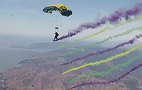 U.S. Navy Parachute Team Perform at San Francisco Fleet Week