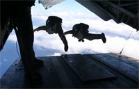 Look Out Below: Marines Execute Free-Fall Jump Training in Okinawa