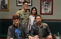 Gerard Butler of Hunter Killer Meets Real U.S. Navy Submariners