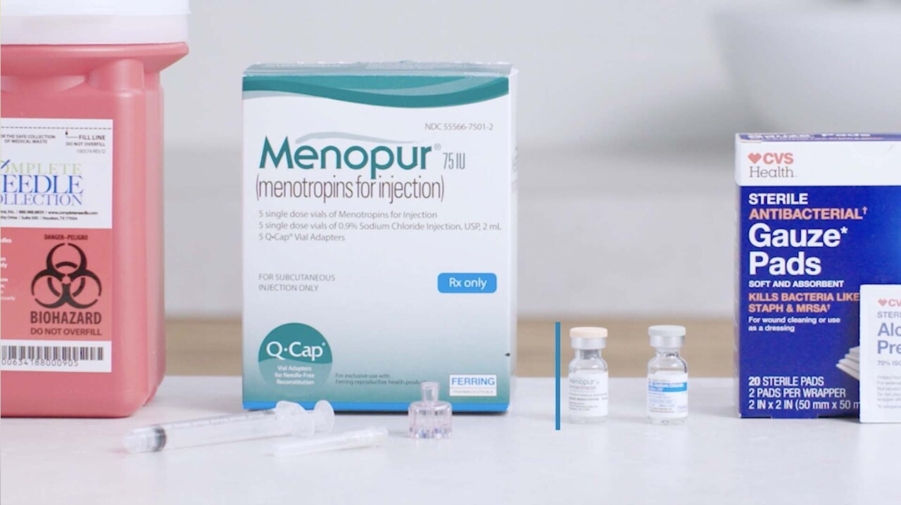 Encompass Fertility Injection Training 06 - Menopur Using a Q-Cap - Intramuscular Injection