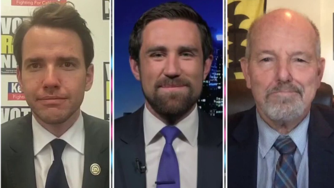 California State Assembly member Kevin Kiley, YouTuber Kevin Paffrath and Riverside County supervisor Jeff Hewitt argue their fitness to serve as governor