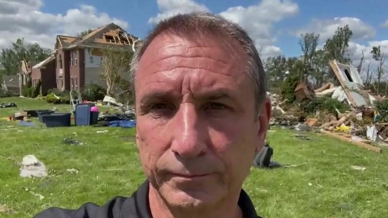 Harrison Township Mayor Louis Manzo details the damage following Hurricane Ida.