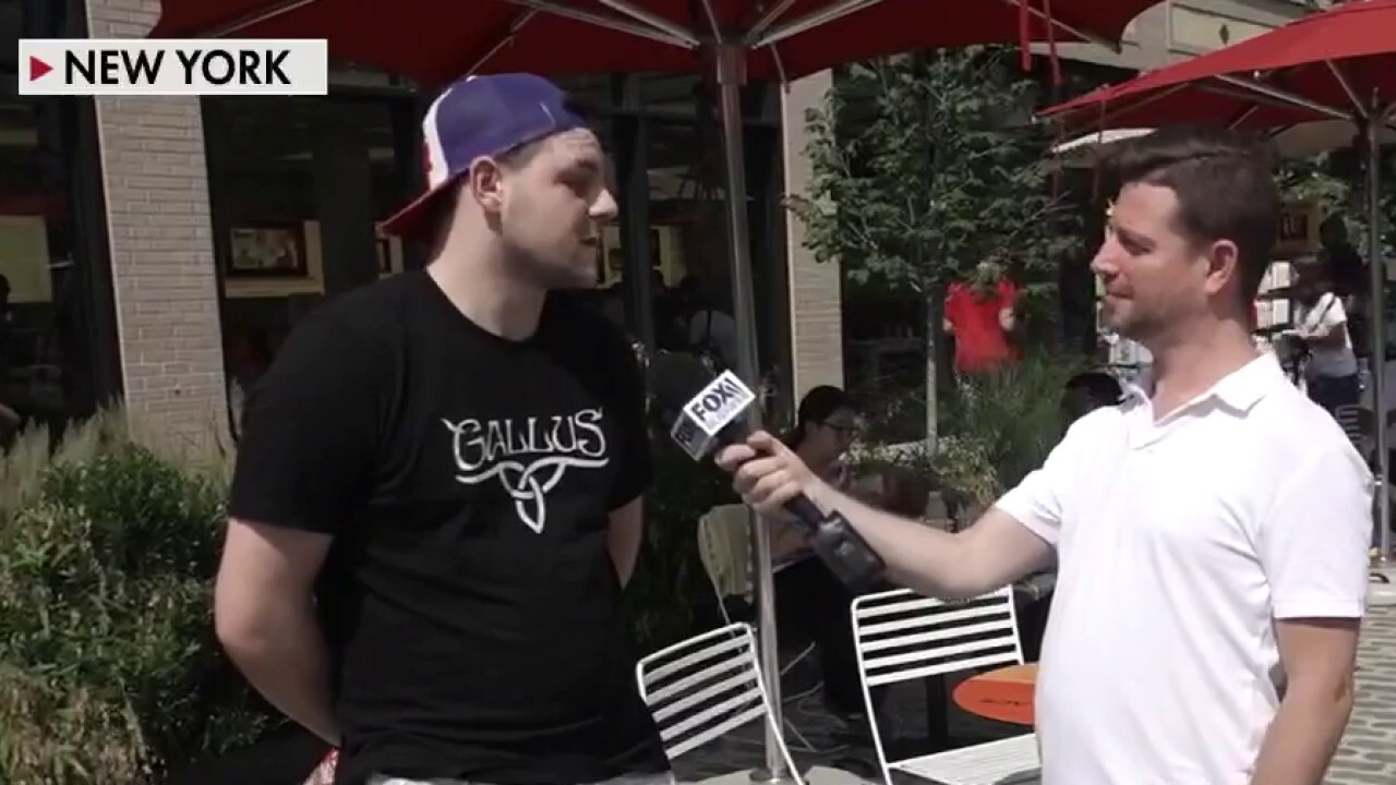 Fox News Headlines 24/7 sports reporter Michael 'Gunz' Gunzelman talks to New York City residents to get their reactions about the COVID vaccine mandate.
