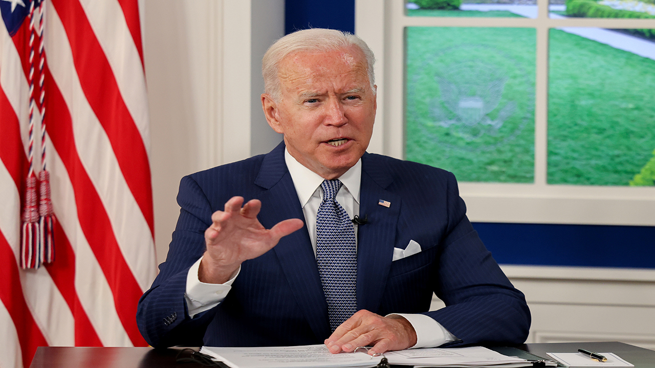 President Biden appears at Capitol Hill to meet with lawmakers as his domestic agenda hangs in the balance