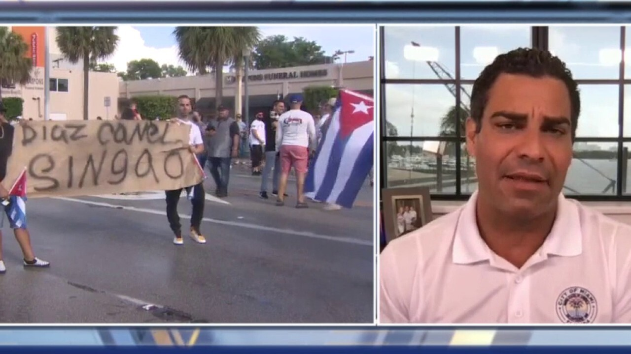 Miami's Mayor Suarez calls for US to intervene in Cuba