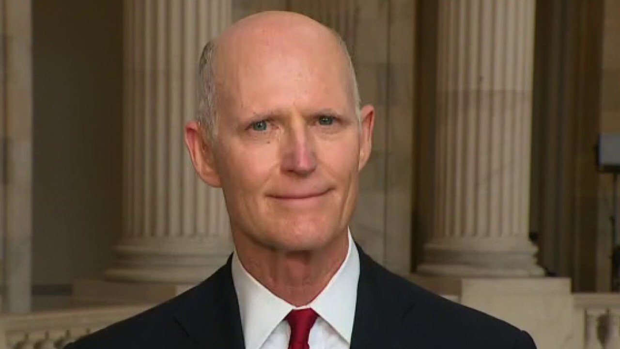 Sen. Rick Scott, R-Fla., blames President Biden for the sharp increase in gas prices across the country.