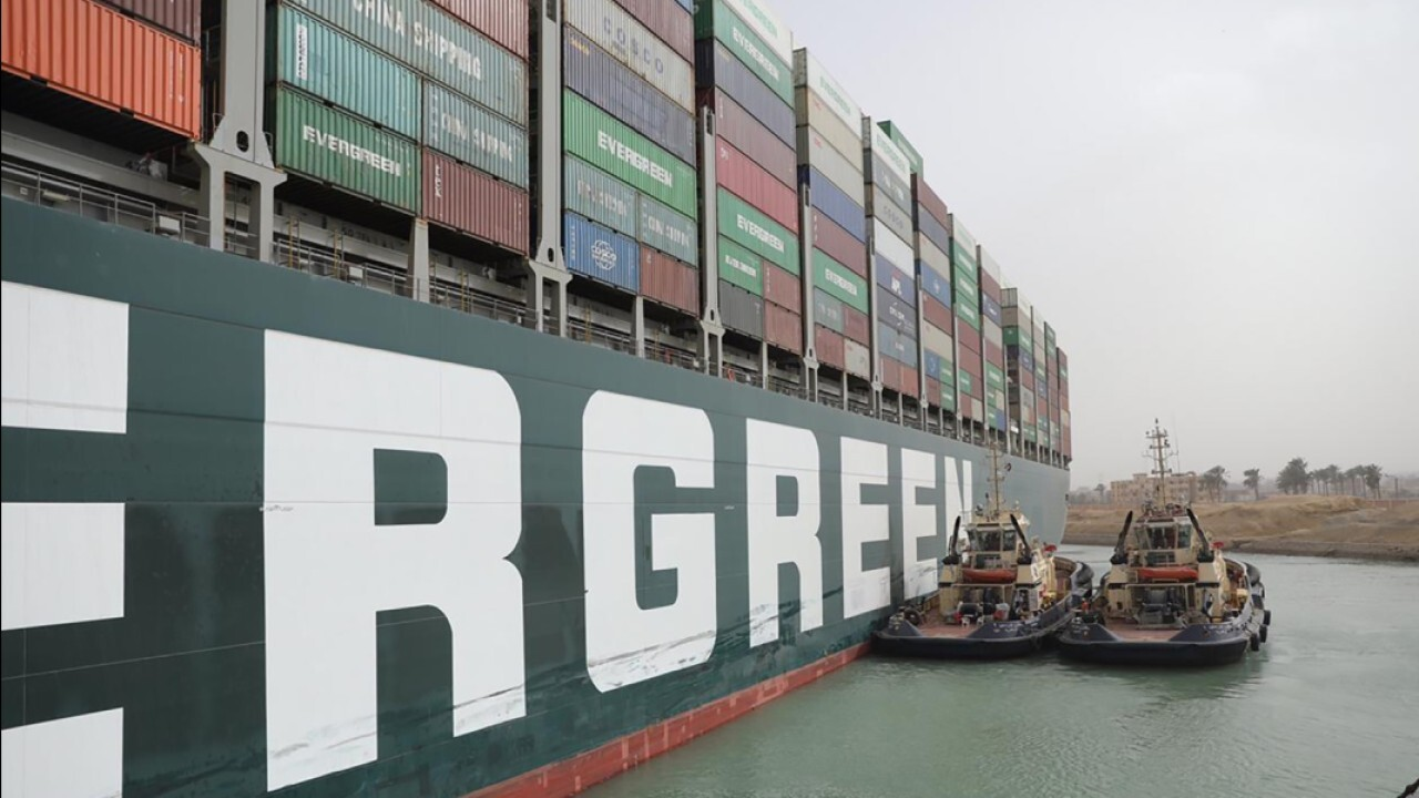 The blockage of Egypt's Suez Canal is putting strain on global supply chains. FOX Business' Maria Bartiromo and Mahoney Asset Management CEO Ken Mahoney with more.