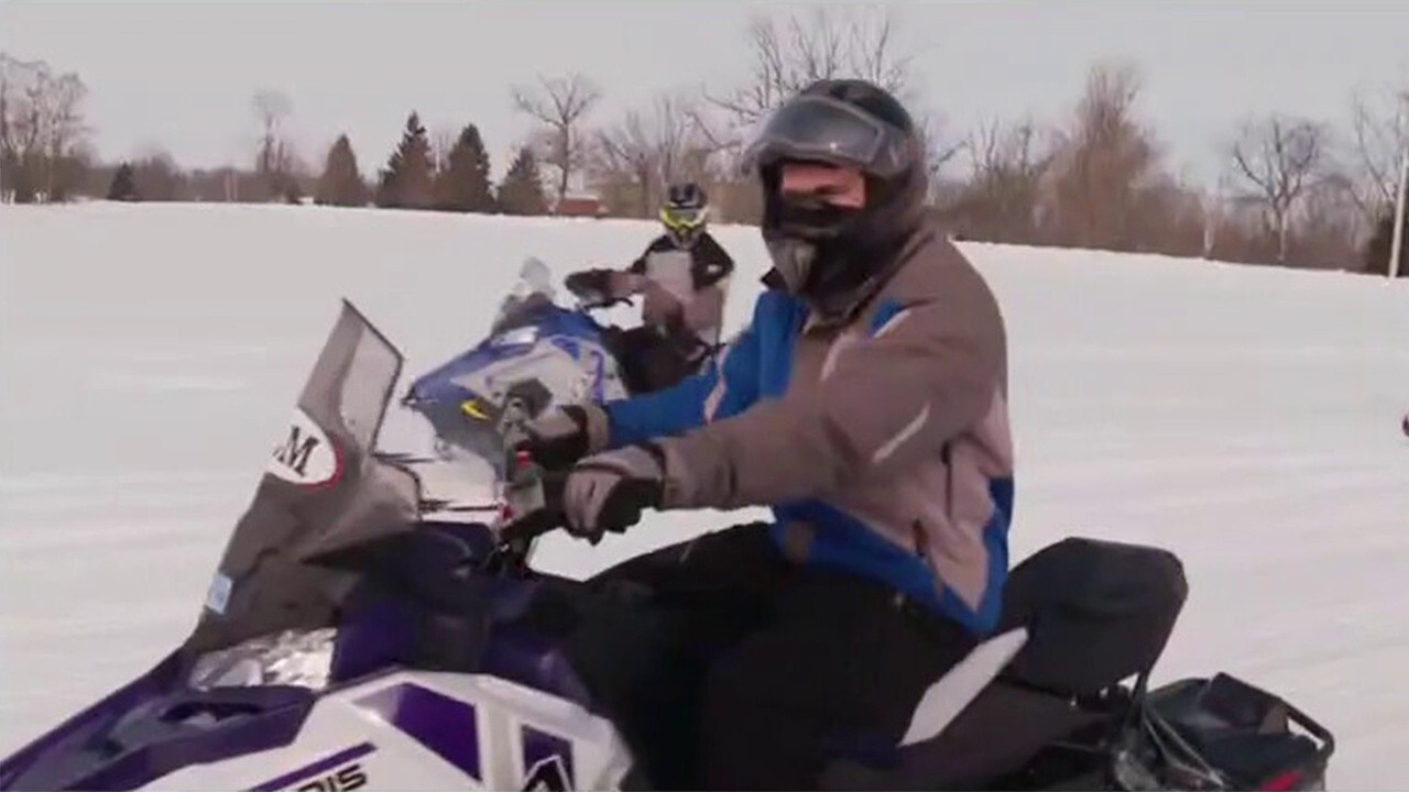 FOX Business' Grady Trimble explains the rise in popularity of snowmobiles and snow apparel.