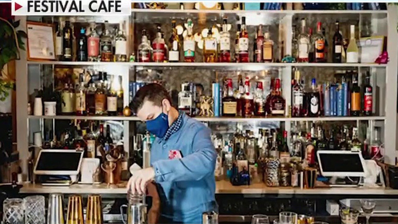 Festival Café owner Tyler Hollinger reacts to New York City requiring small businesses to check that all customers are vaccinated.