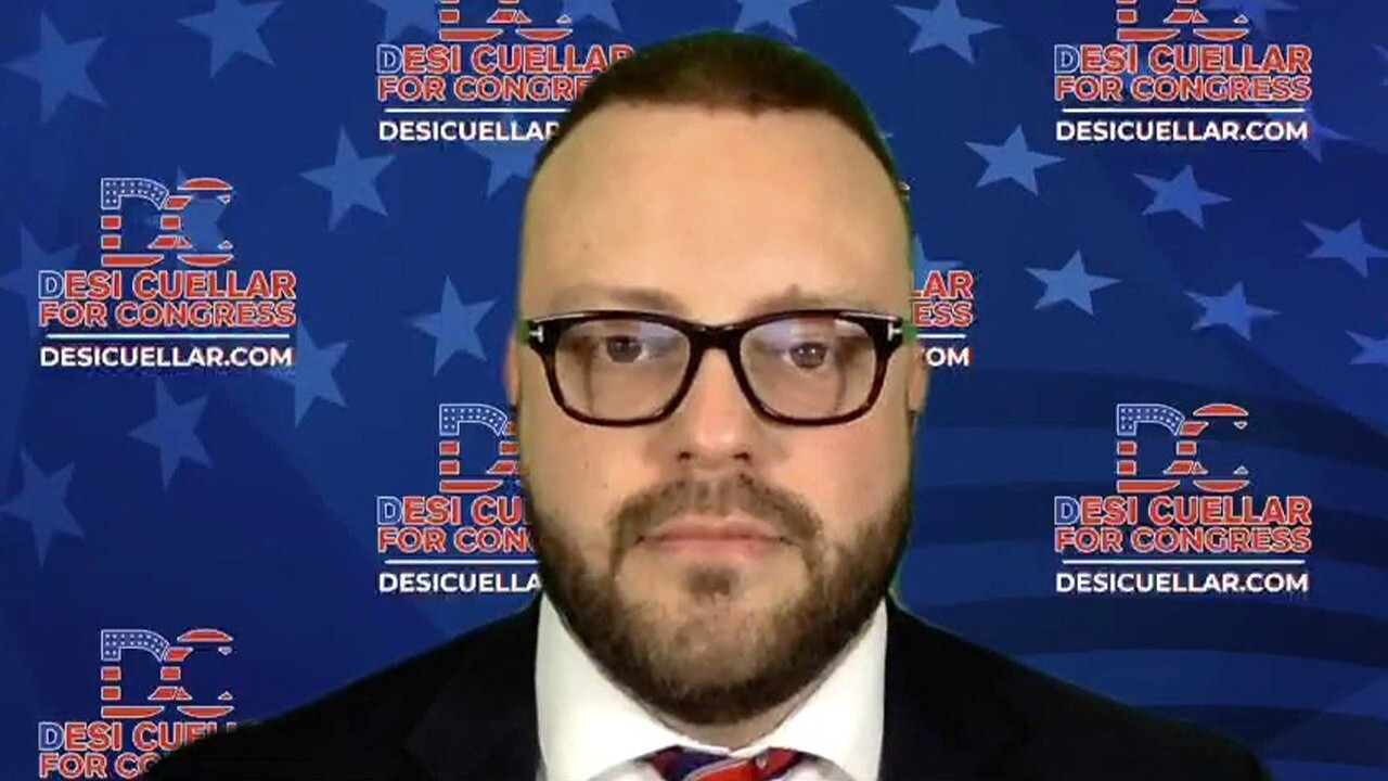 New York congressional candidate Desi Cuellar (R) shares his theory on why Rep. Alexandria Ocasio-Cortez is so popular.