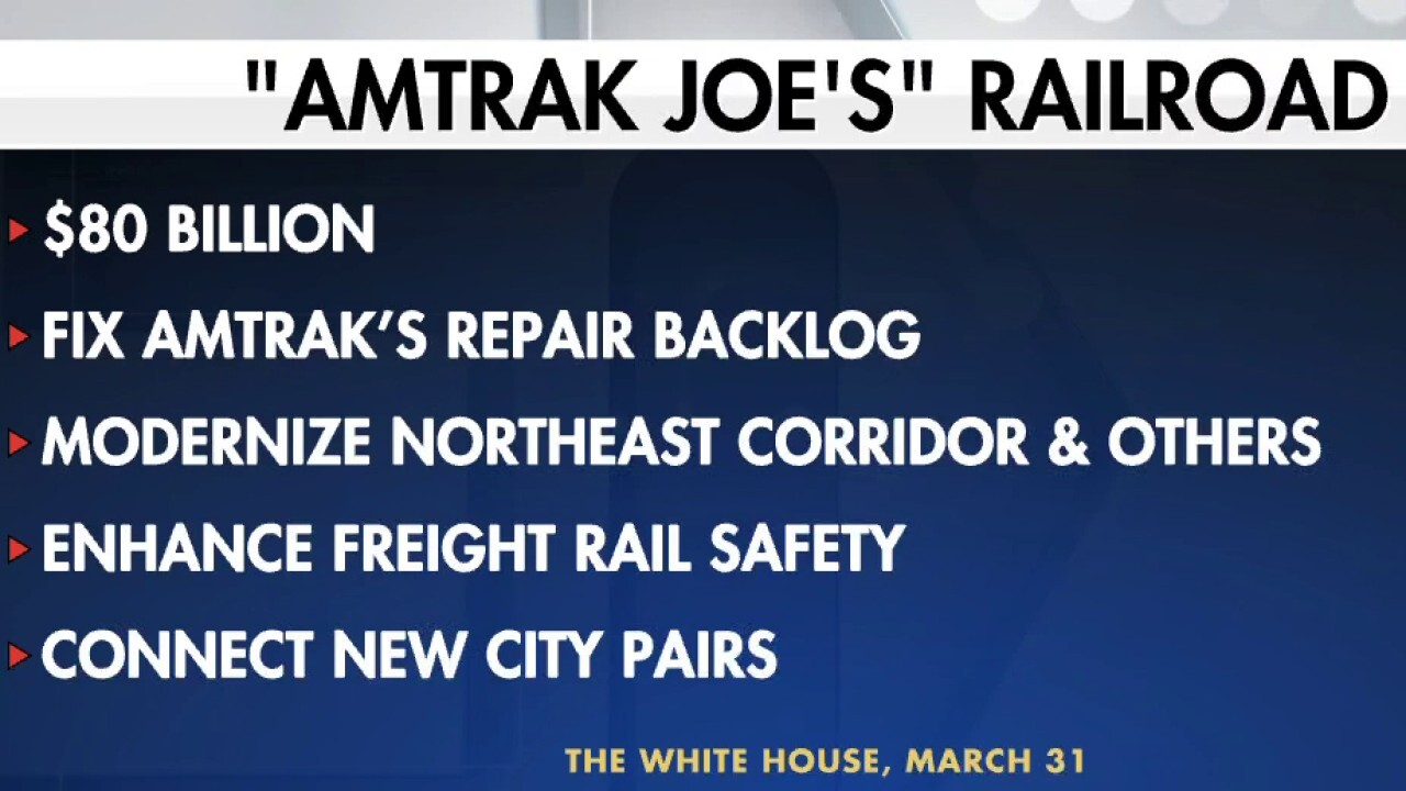 Biden seeks to pour billions into Amtrak, high-speed rail