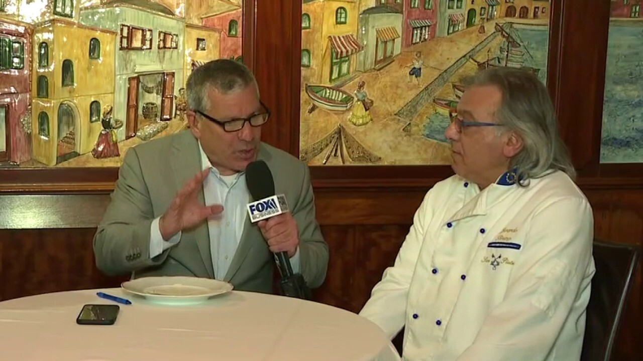 Cosimo Bruno and Gerardo Bruno, co-owners of San Pietro Restaurant in New York, explain their staff shortage due to unemployment benefits.