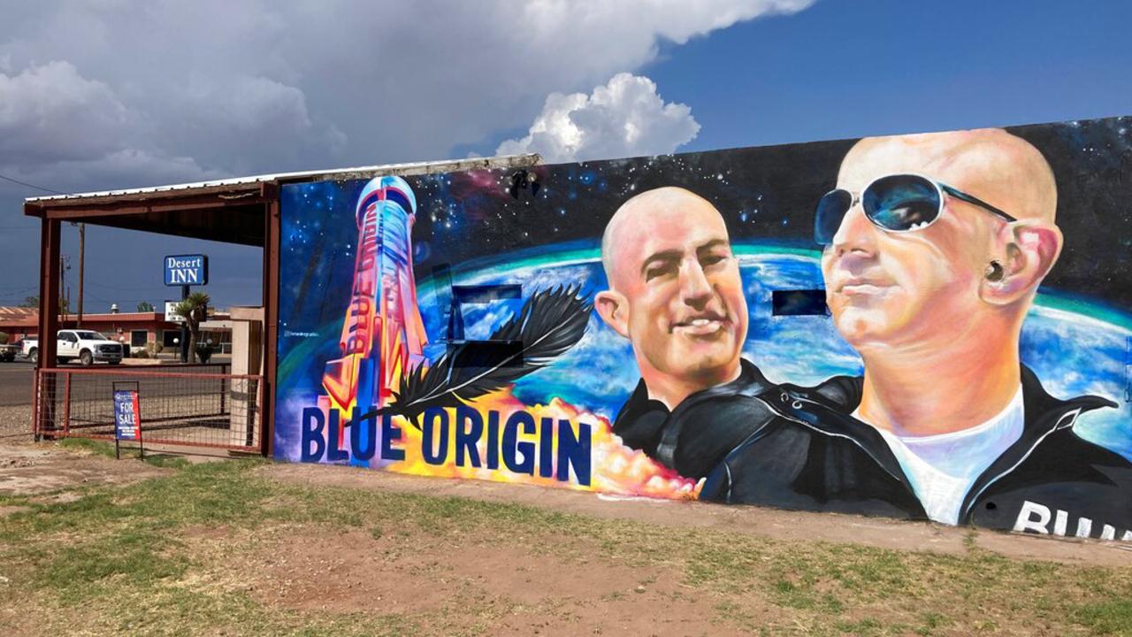 Blue Origin founder Jeff Bezos launches into space aboard New Shepard rocket