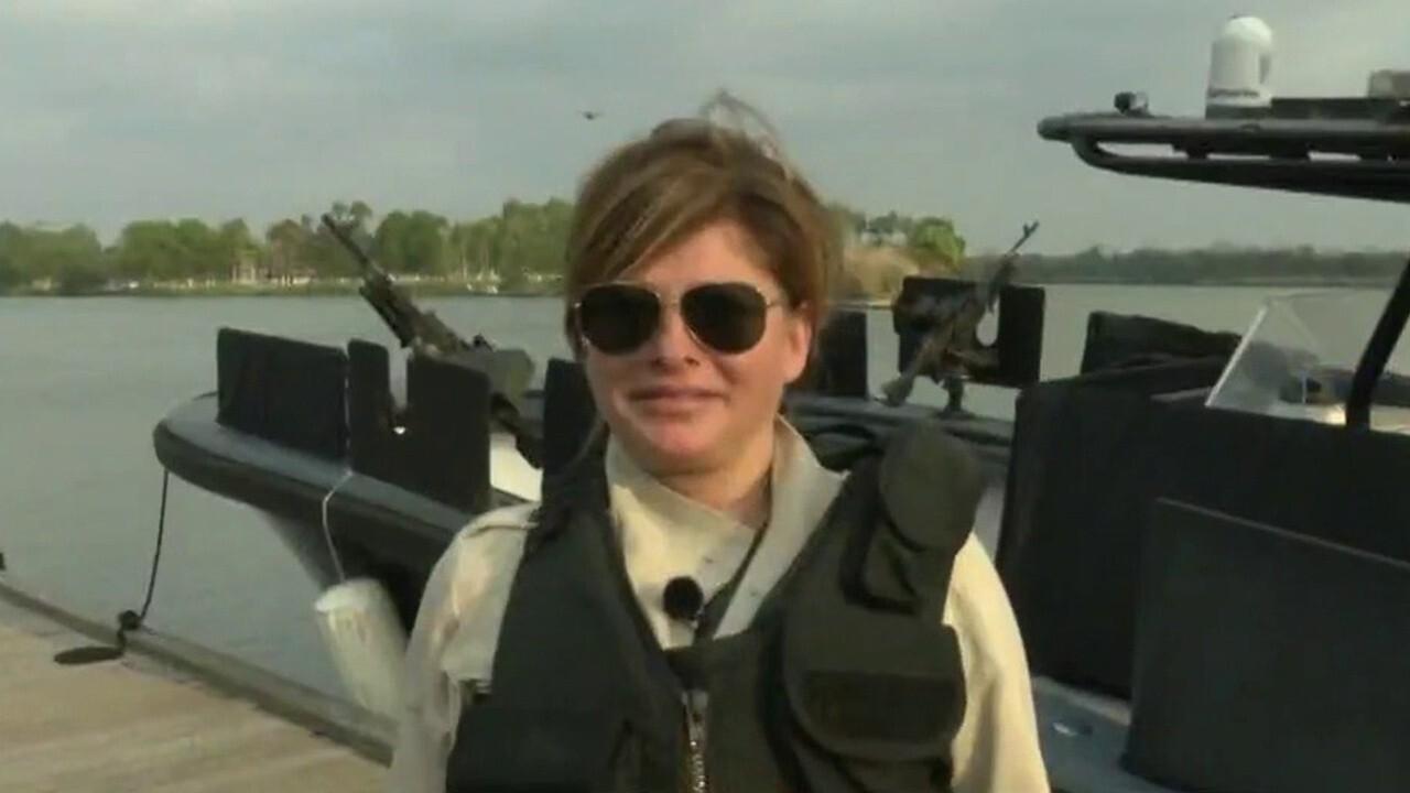 Maria Bartiromo wears bulletproof vest while touring Rio Grande
