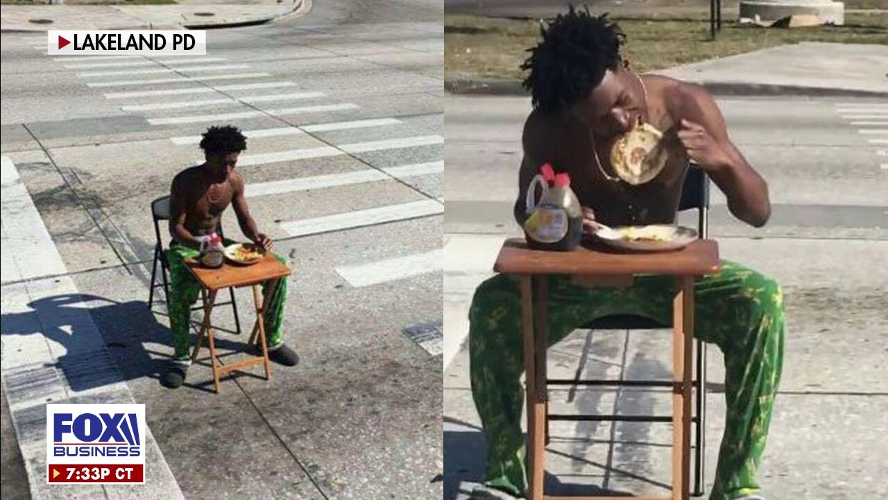 Florida man arrested for eating pancakes in middle of the road