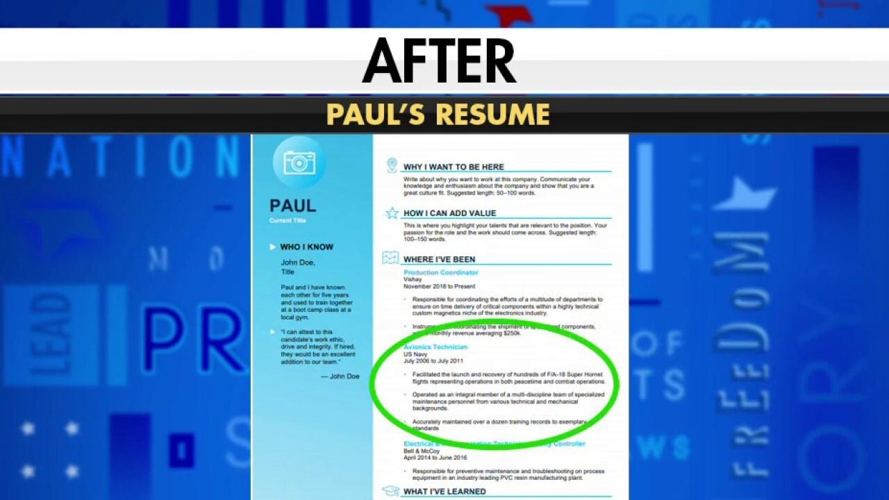Career coach gives veteran resume tips