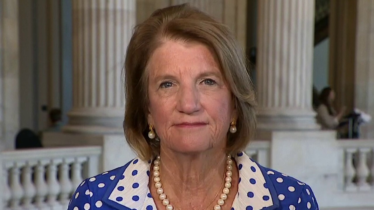 Sen. Shelley Moore Capito, R-W. Va., slams Democratic colleagues over trillion-dollar spending proposals and non-specific human infrastructure bill.