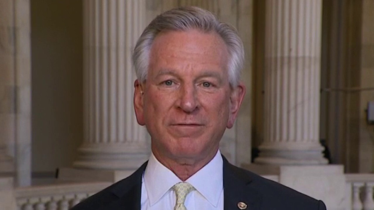 Sen. Tommy Tuberville, R-Ala., discusses his proposed legislation against China investments.