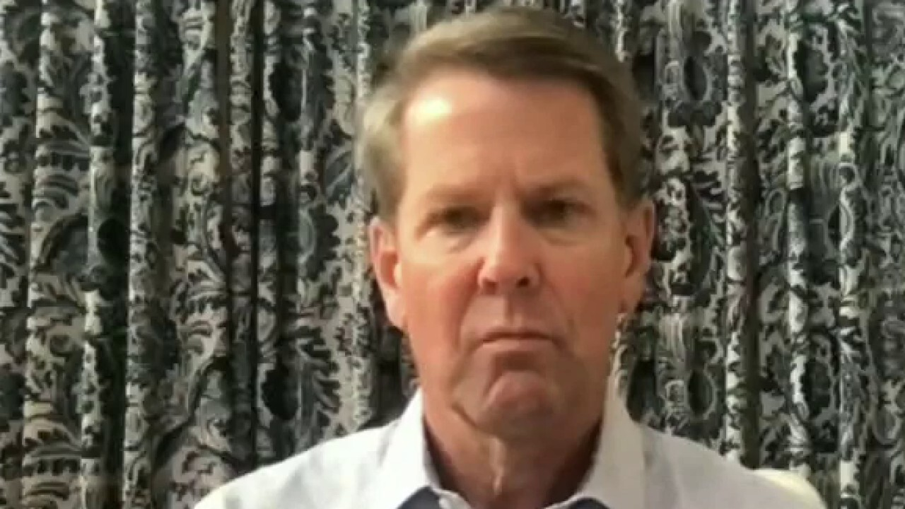 Georgia Gov. Brian Kemp criticizes Biden's COVID vaccine mandate and argues it takes aim at state leaders.