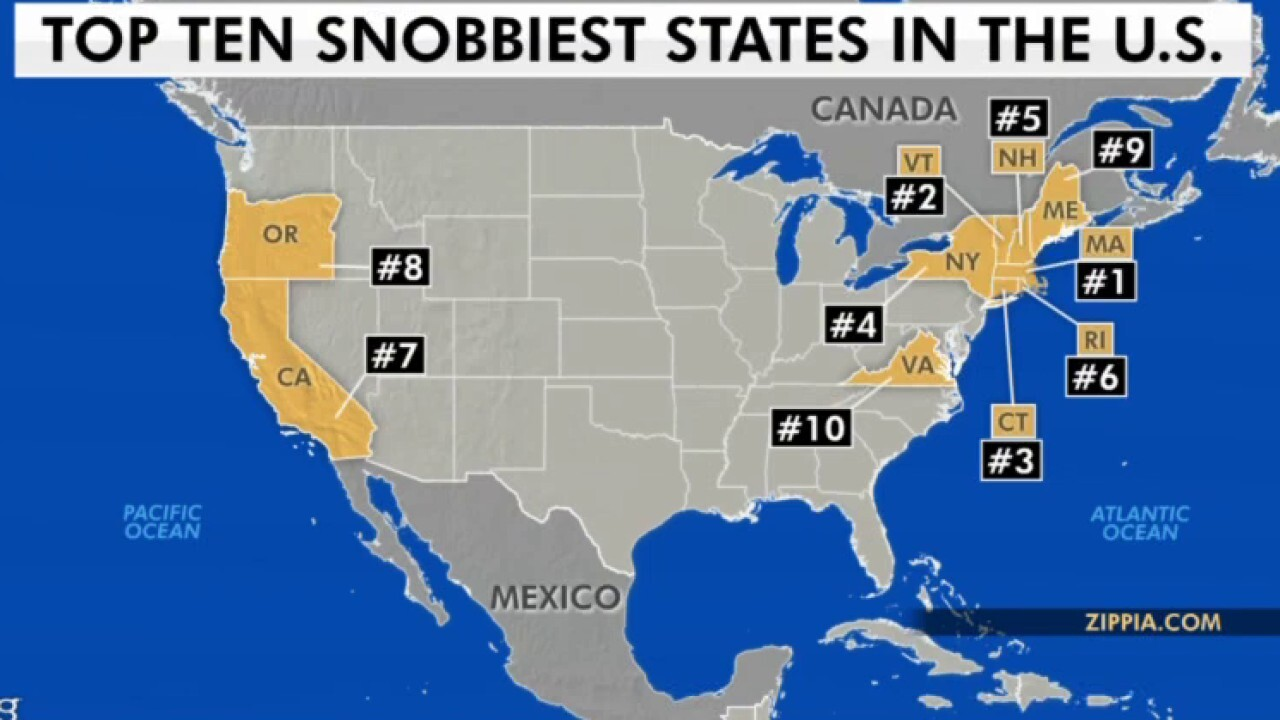 Massachusetts tops list of snobbiest states