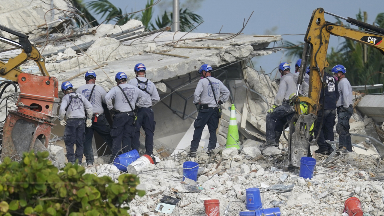 Officials give an update on the Surfside, Florida condo collapse rescue efforts. Coverage courtesy of WSVN.