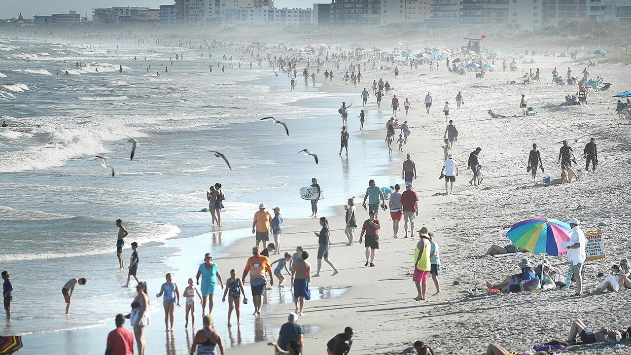 FOX Business' Ashley Webster on how Florida beaches are reopening with new COVID safety guidelines.