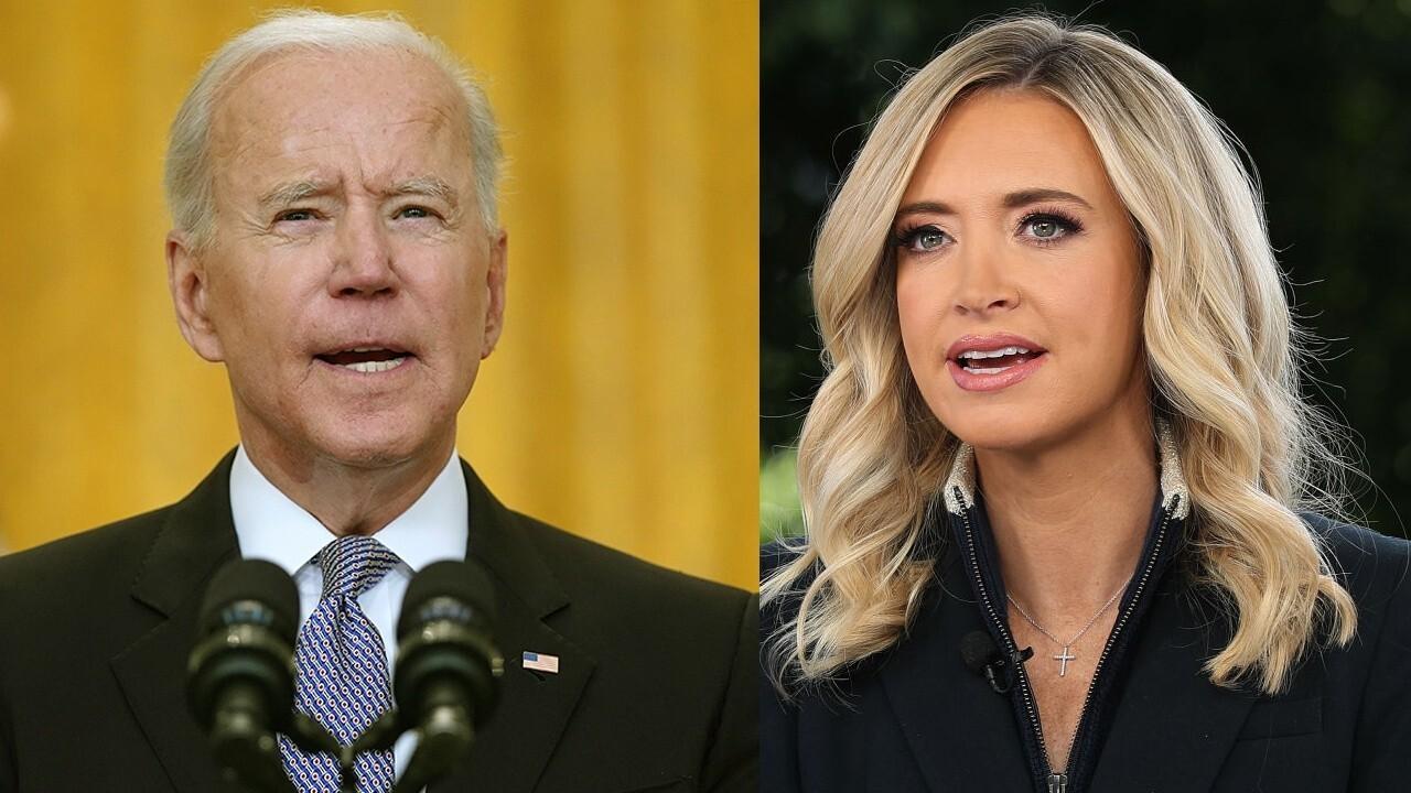 McEnany on Biden's joke about running over reporter, calls press 'sycophants'