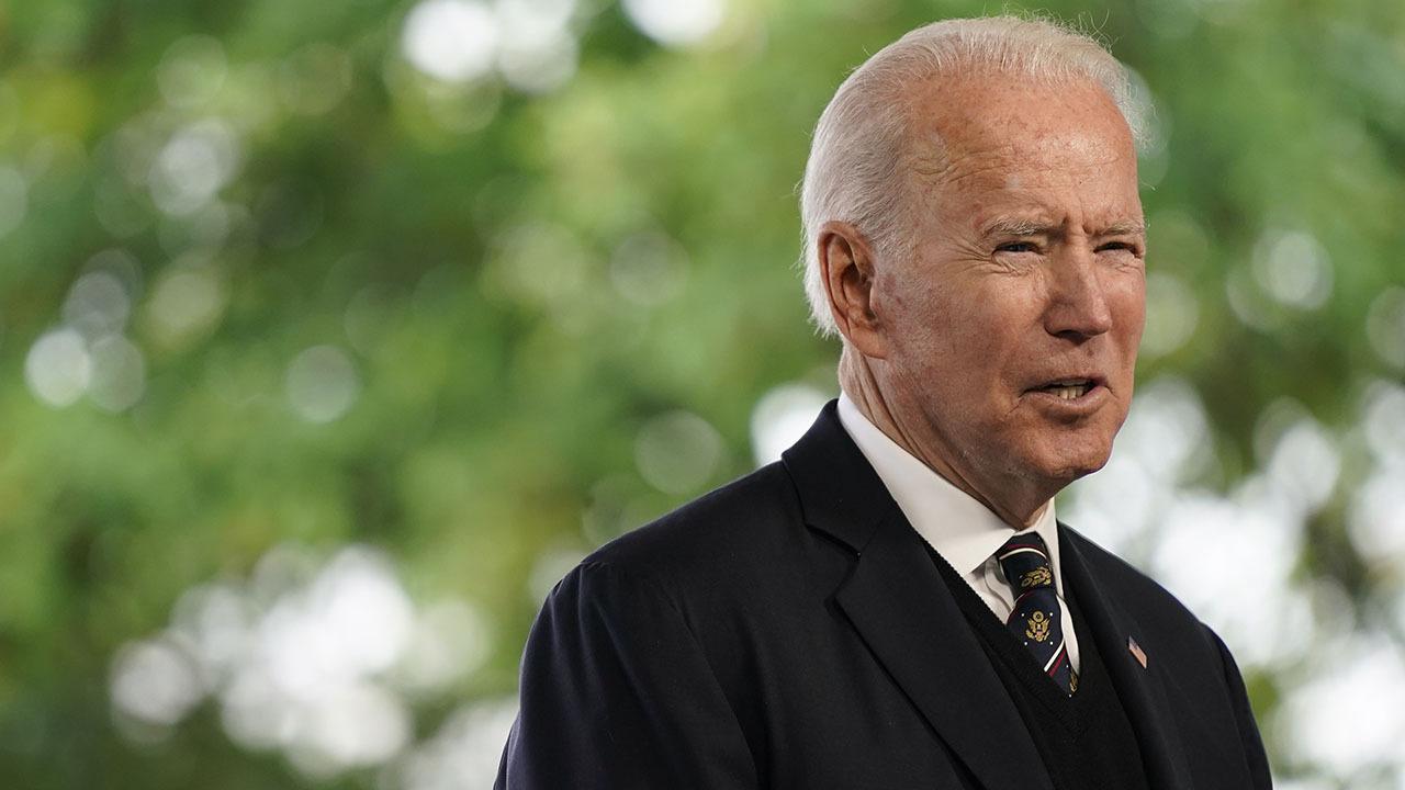 President Joe Biden tours the Municipal Transit Utility in La Crosse, Wisconsin.