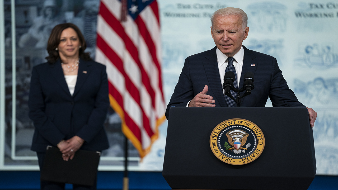 President Biden, VP Harris meet with union and business leaders to discuss infrastructure framework