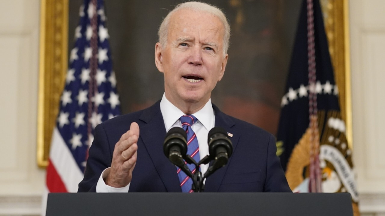 President Biden argued raising taxes will 'make the economy function better' and 'create more energy' while taking press questions on the March jobs report.