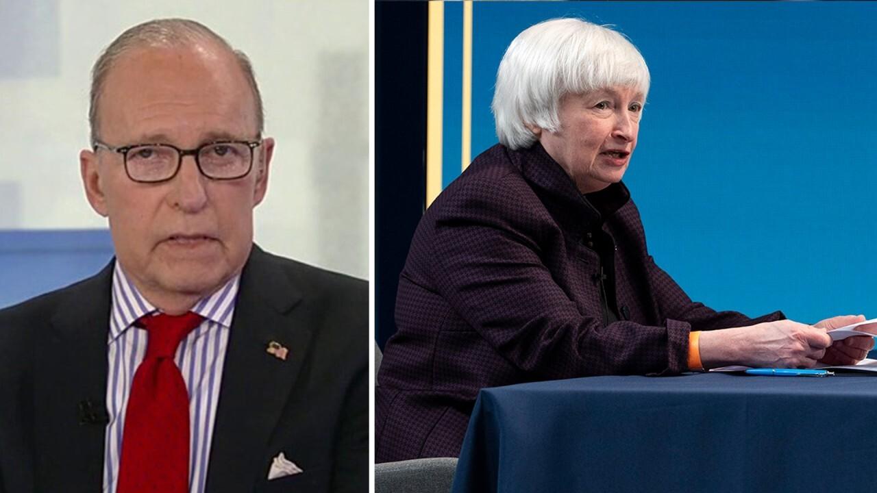 'Kudlow' host discusses the Treasury secretary walking back comment on interest rates.