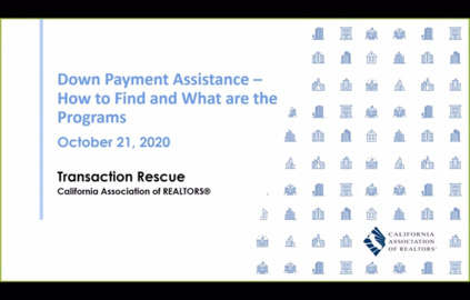 Transaction Rescue B2B Webinar - Down Payment Assistance - 10-21-20