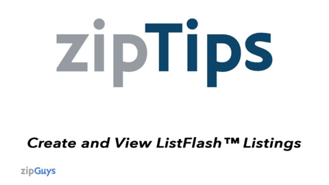 Create and View ListFlash™ Listings