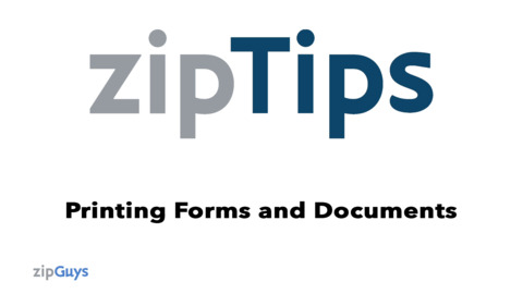 Printing Forms and Documents