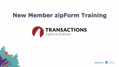 New Member zipForm Training