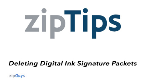 Deleting Unsent Signature Packets from zipForm® Plus