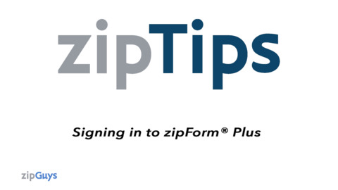 Lone Wolf Transactions – zipForm Edition: How to Log In