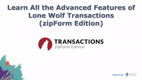 Learn All the Advanced Features of Lone Wolf Transactions (zipForm Edition)